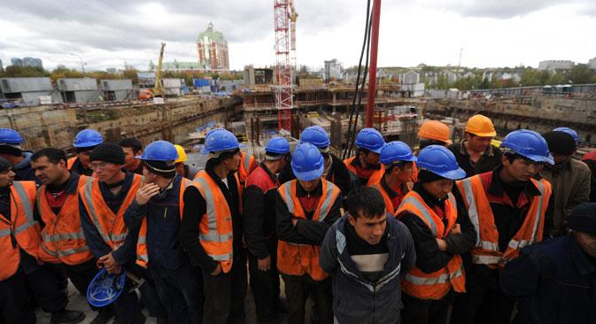 Une très large majorité d'immigrés viennent des ex-républiques de l'URSS pour trouver de meilleurs salaires que dans leur patrie. Crédit photo : Photoshot / Vostock-photo