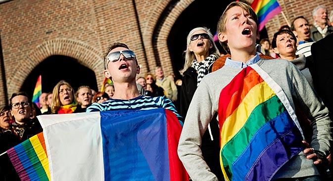 Il est possible que l'annonce de Timmermans simplifiera la procédure d'obtention du droit de séjour au Pays-Bas pour les victimes de la loi anti-gay russe. Crédit : Reuters