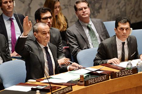 Selon Gérard Araud, la France reçoit 2,5 à 2,6% des contrats de l'ONU, répartis par le biais d'appels d'offres, tandis que pour la Russie, ce chiffre s'élève à 14%. Crédit : AFP / East News