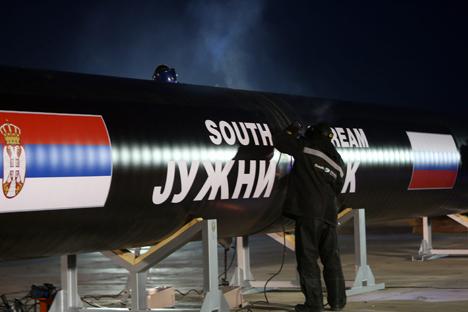 Dans les cercles diplomatiques, l'on considère que la position de l'UE au sujet de South Stream s'explique par le fait que l'UE est actuellement présidée par la Lituanie, pays en conflit de longue date avec Gazprom. Crédit : Itar-Tass