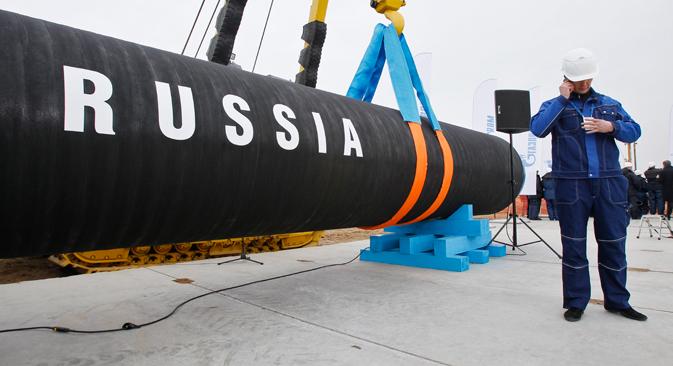 Le contrat signé en 2009 impose à Kiev l'achat de 40 milliards de m3 de gaz. Crédit : AP