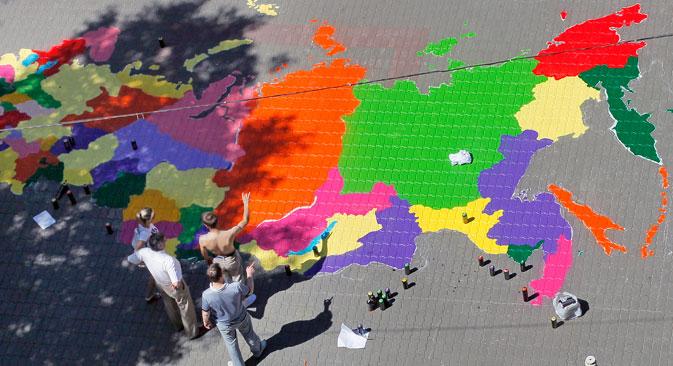 Noch heute basiert die komplizierte geografische Strukturierung Russlands auf den Grundsätzen der Vergangenheit. Foto: RIA Novosti