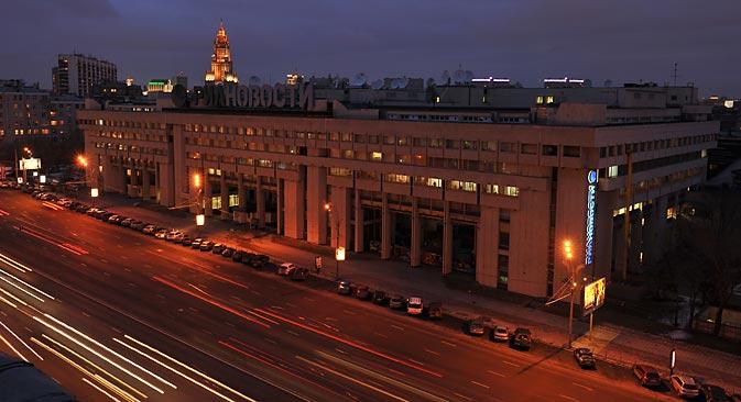 Le 9 décembre,le président Vladimir Poutine a signé un décret de liquidation de l'agence de presse RIA Novosti. Crédit : RIA Novosti