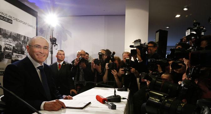 Mikhaïl Khodorkovski prévoit de rester en Europe. Crédit : Reuters