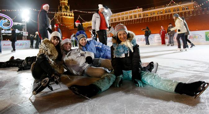La patinoire près du Kremlin. Crédit : Reuters