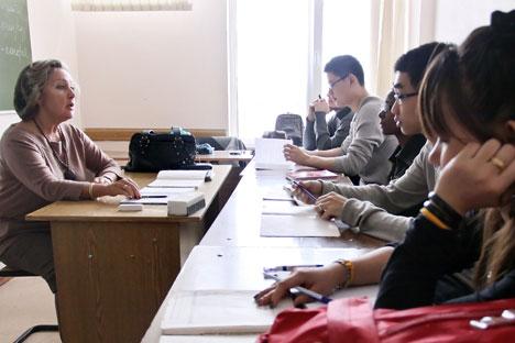 Le coût raisonnable de la formation au sein des universités russes représente donc l'avantage principal motivant les étudiants à choisir la Russie. Crédit : Itar-Tass
