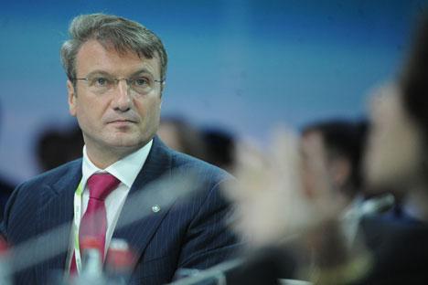 Le président de la Sberbank Guerman Gref : « La situation aujourd'hui est idéale pour mener toute une série de réformes très importantes ». Crédit : Itar-Tass