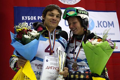 Vic Wild et Alena Zavarzina. Crédit : Valeri Melnikov / RIA Novosti