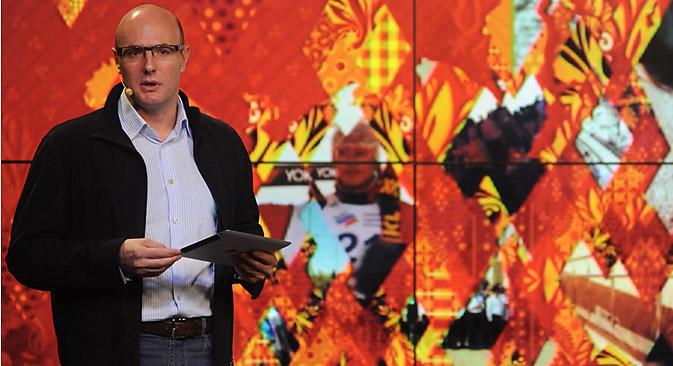 """Dmitri Tchernychenko : """"Nous gardons le secret sur les noms des artistes que l'on pourra voir et entendre dans le parc olympique"""". Crédit : service de presse"""