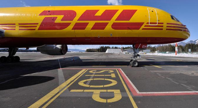 Le service de presse de DHL Express a annoncé que les importations de tous biens de consommation en Russie cesseront à partir de 27 janvier. Crédit : Reuters