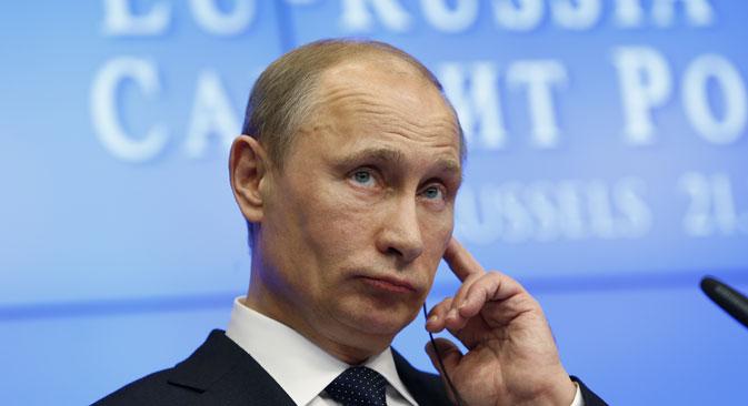 Le président Poutine garde l'espoir de parvenir à un accord sur la suppression des visas pour l'Union européenne, ou du moins sur l'assouplissement des règles en vigueur pour ceux qui franchissent les frontières européennes. Crédit : Reuters