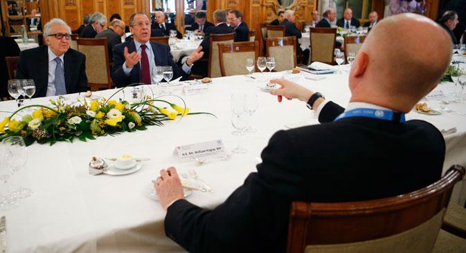 De nombreux représentants des 40 pays participants ont souligné le rôle décisif de la Russie dans l'organisation de Genève-2. Crédit : Reuters
