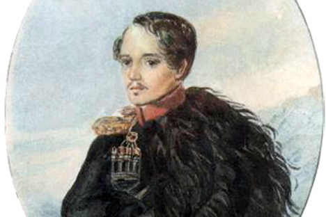 Mikhaïl Lermontov. Autoportrait. Source : wikipedia