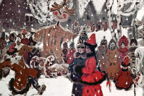 Pour la Maslenitsa, des parties de patinage endiablées, des bals et autres festivités délicieuses sont organisées en Russie.