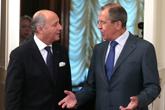 Sergueï Lavrov et Laurent Fabius