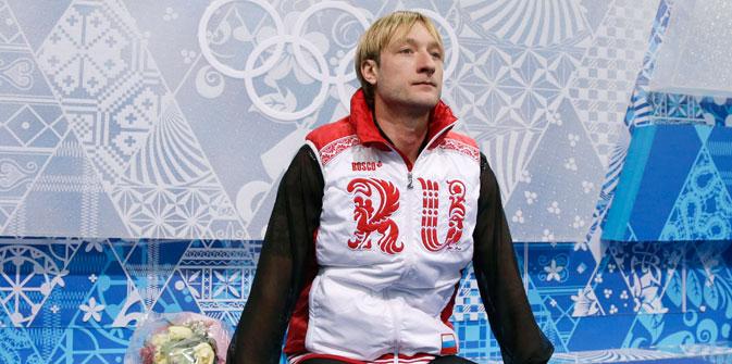 Evgeni Plushenko a renoncé à patiner son programme court à la dernière minute. Crédit : AP