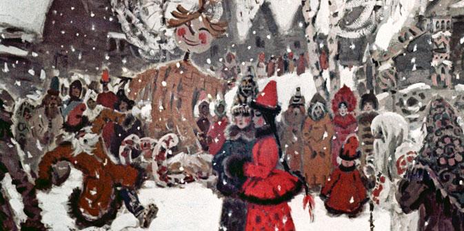 Pour la Maslenitsa, des parties de patinage endiablées, des bals et autres festivités délicieuses sont organisées en Russie. Crédit : RIA Novosti