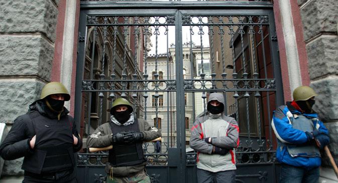 La Russie est inquiétée par l'humeur agressive des opposants du président Inoukovitch. Crédit : Reuters