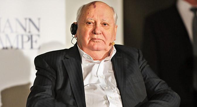 Mikhaïl Gorbathcev considère qu'il faut aujourd'hui trouver un compromis sur les questions liées à la Crimée. Crédit : Photoshot/Vostock Photo