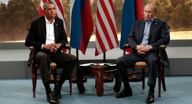 Le président américain Barack Obama (à gauche) et le président russe Vladimir Poutine. Crédit : Reuters