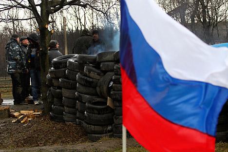 Des barricades à Slaviansk. Crédit : Reuters