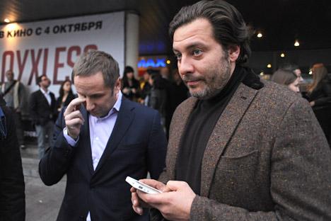 L'écrivain pro-Kremlin Serguei Minaiev condamne les décisions des autorités de Kiev. Crédit : Itar-Tass