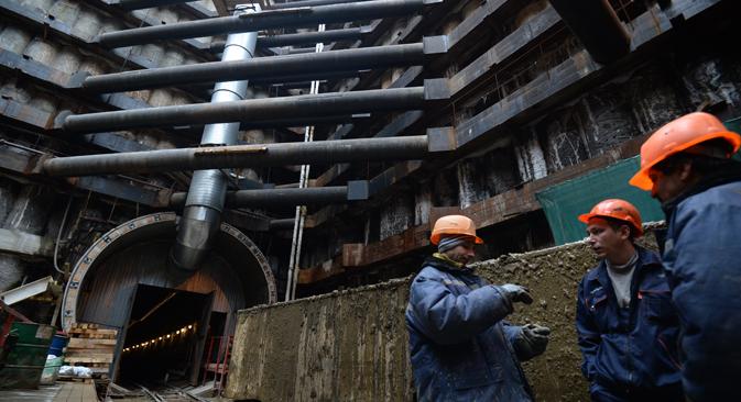 La construction du métro est loin d'être l'unique domaine à utiliser des productions en provenance d'Ukraine. Crédit : Alexeï Filippov/RIA Novosti