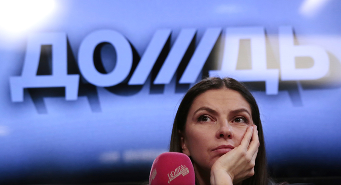 The executive director of Dozhd TV, Natalya Sindeyeva decided to continue broadcasting, and then - unexpectedly for the entire media community - the station received the green light from Putin. Source: Alexsey Nichukchin / RIA Novosti