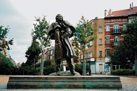 La statue de Pouchkine orne une jolie place au Nord de Bruxelles. Source : Service de presse