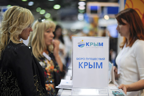 Crimea travel agency, reads the sign. Source: ITAR-TASS