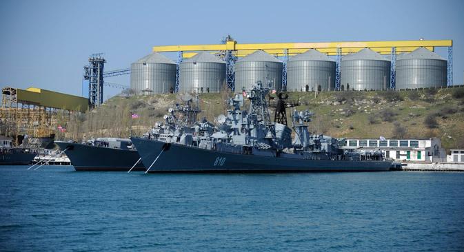 D'après l'étude du fonds l'Institut de l'énergie et des finances, les réserves de la Crimée atteindraient le chiffre fantastique de 1.970 milliards de m3 de gaz. Crédit : AP