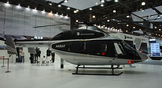 Ansat helicopters can be either passenger, transport, ambulance, or rescue. Source: Olga Sokolova