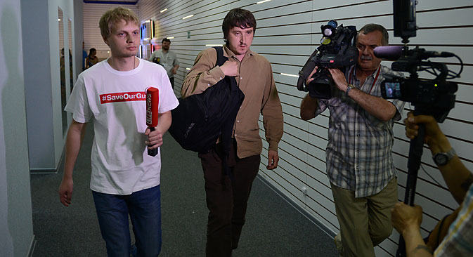 Oleg Sidiakine (à g.) et Marat Saïtchenko Crédit : Vladimir Astapkovitch/RIA Novosti