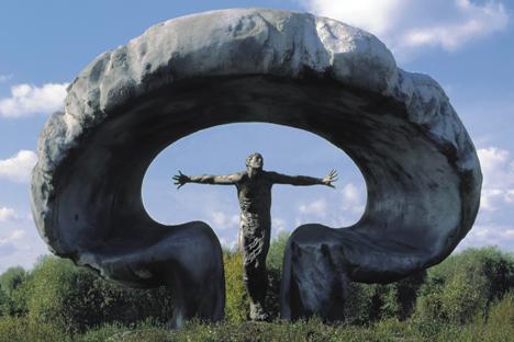 Le monument dédié aux victimes de la catastrophe de Tchernobyl. Crédit : service de presse