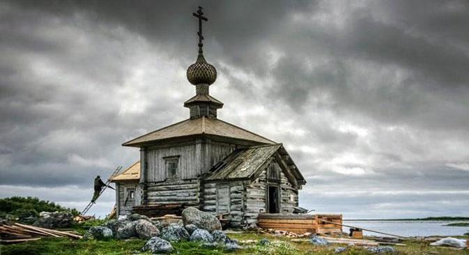 Uno scorcio delle isole Solovki.
