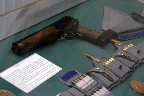 Members of the Soviet cosmonautic corps were equipped with a regular Makarov (PM) gun. Source: wikipedia