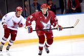 Poutine joue au hockey