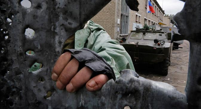Selon les estimations de l'ONU, à la fin juin, plus de 110 000 Ukrainiens ont fui vers le territoire russe. Crédit : AP