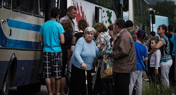 Il est désormais impossible d'évacuer la population civile vers la Russie car les routes sont exposées aux tirs. Crédit : Getty Images/Fotobank