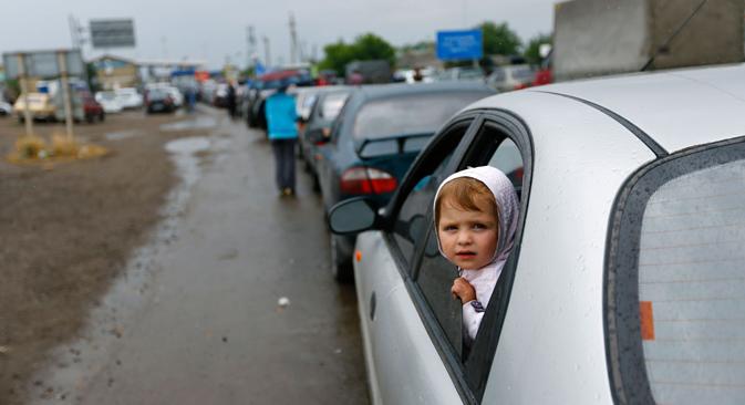 Selon les chiffres de l'administration de l'oblast de Rostov, plus de 21 000 réfugiés ukrainiens sont enregistrés actuellement dans la région. Crédit : Reuters
