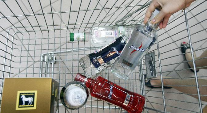 D'après Rosstat, la consommation de vodka recule en Russie. Crédit : Itar-Tass