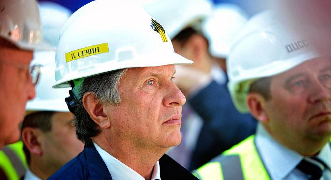 Rosneft ist von allen russischen Unternehmen auf der Sanktionsliste am meisten in die US-Wirtschaft integriert. Auf dem Bild: Rosneft-Präsident Igor Setschin. Foto: ITAR-TASS