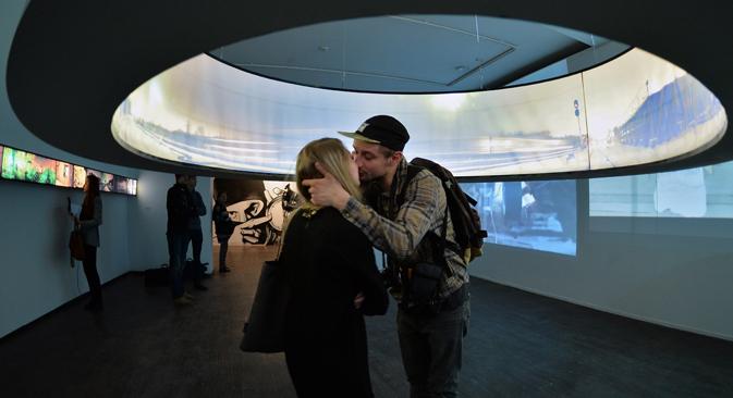 Une exposition au Le Musée d'art contemporain de Moscou. Crédit : Vladimir Pesnya/RIA Novosti