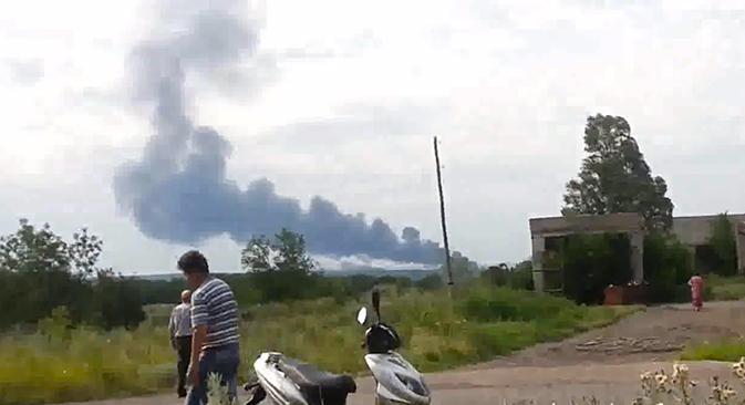 Flugzeugabsturz in Ostukraine: Aufständische und Regierung beschuldigen sich gegenseitig. Foto aus den freien Quellen