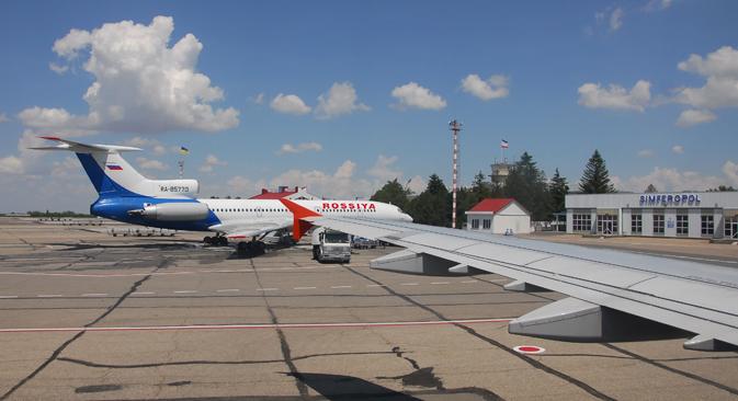 L'aérodrome de Simferopol, la capitale de la Crimée. Crédit : Lori/Legion Media