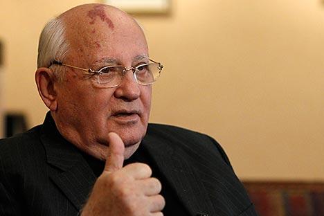 Le conflit interne que connaît l'Ukraine ne doit pas devenir international, considère Mikhaïl Gorbatchev. Crédit : Reuters