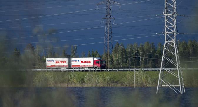 Le projet du système de collecte des péages sur les camions n'est pas abandonné, il sera réalisé par un seul concessionnaire nommé par le gouvernement. Crédit : Alexey Malgavko/RIA Novosti