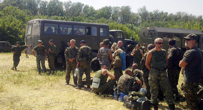 Selon les chiffres officiels, 438 militaires ukrainiens sont passés le 4 août sur le territoire russe, dont 164 gardes-frontières. Crédit : Ioulia Nassoulina/RIA Novosti