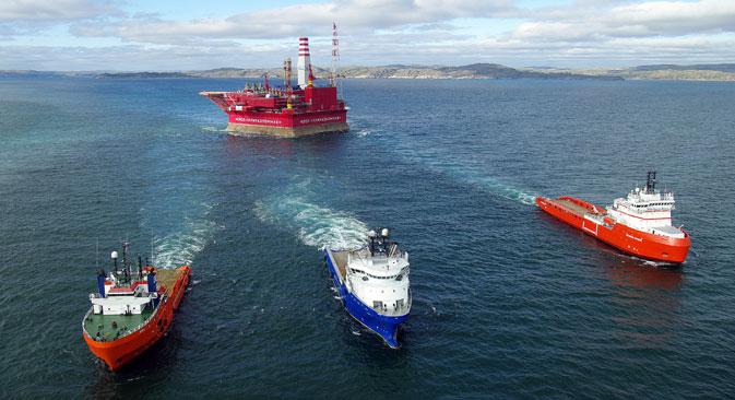 Les sanctions qui restreignent la vente à la Russie de technologies d'extraction de pétrole en mer profonde sont bien plus douloureuses. Crédit : Itar-Tass