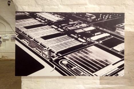 Vue générale du projet d'usine AvtoVAZ, 1966. Source : archives municipales de Togliatti